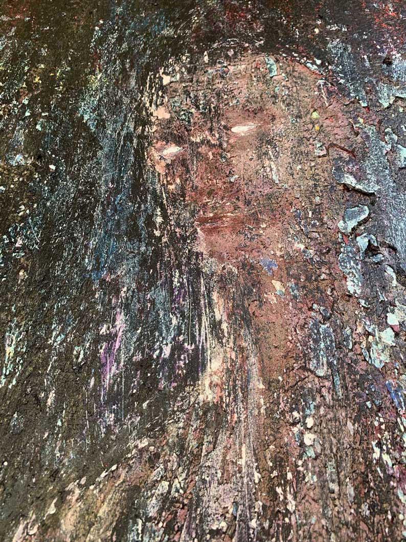 "Close-up 2 of ""Shadow"" painting by Tamara Anna Pawlak"