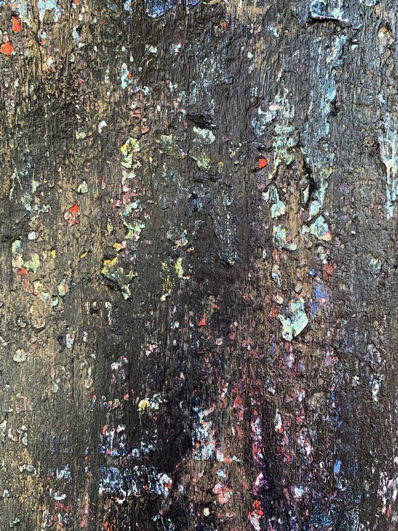 "Close-up 3 of ""Shadow"" painting by Tamara Anna Pawlak"