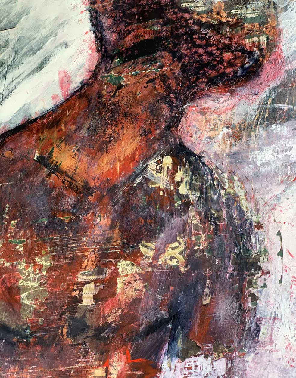 "Close-up 1 of ""Didactic,"" painting by Tamara Anna Pawlak"