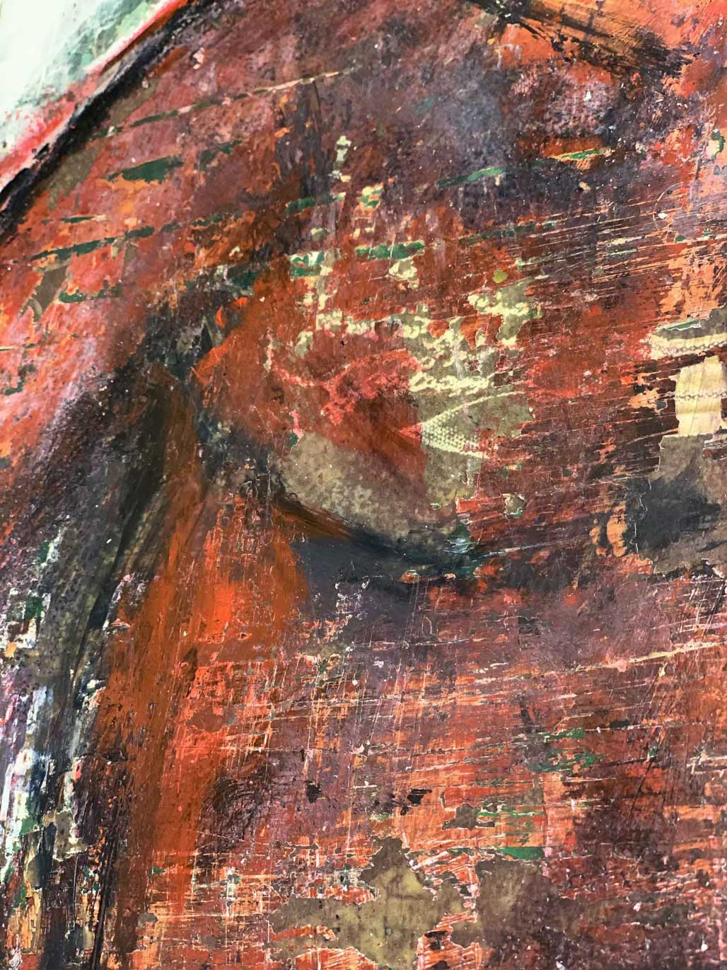 "Close-up 2 of ""Didactic,"" painting by Tamara Anna Pawlak"
