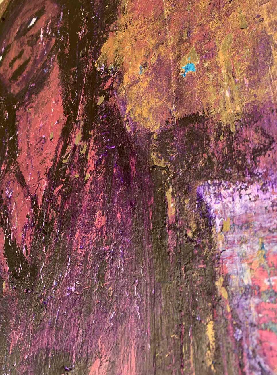 "Close-up 3 of ""Nightingale,"" painting by Tamara Anna Pawlak"