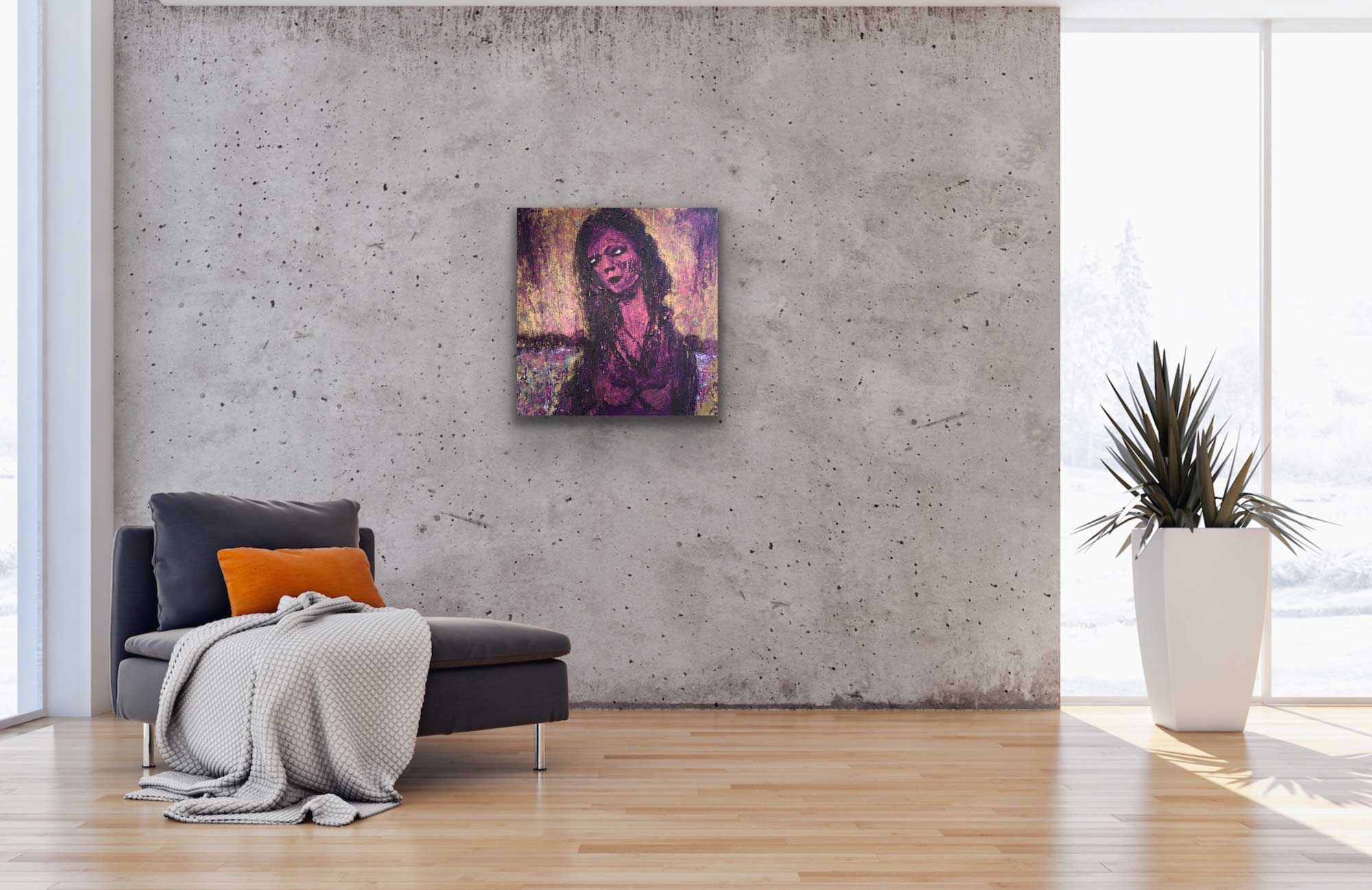 "Gallery image of ""Nightingale,"" painting by Tamara Anna Pawlak"