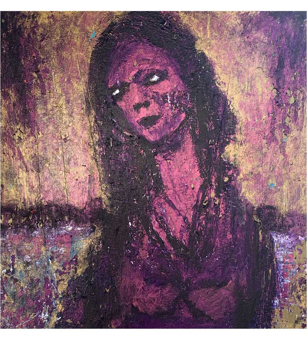 """Nightingale,"" painting by Tamara Anna Pawlak"