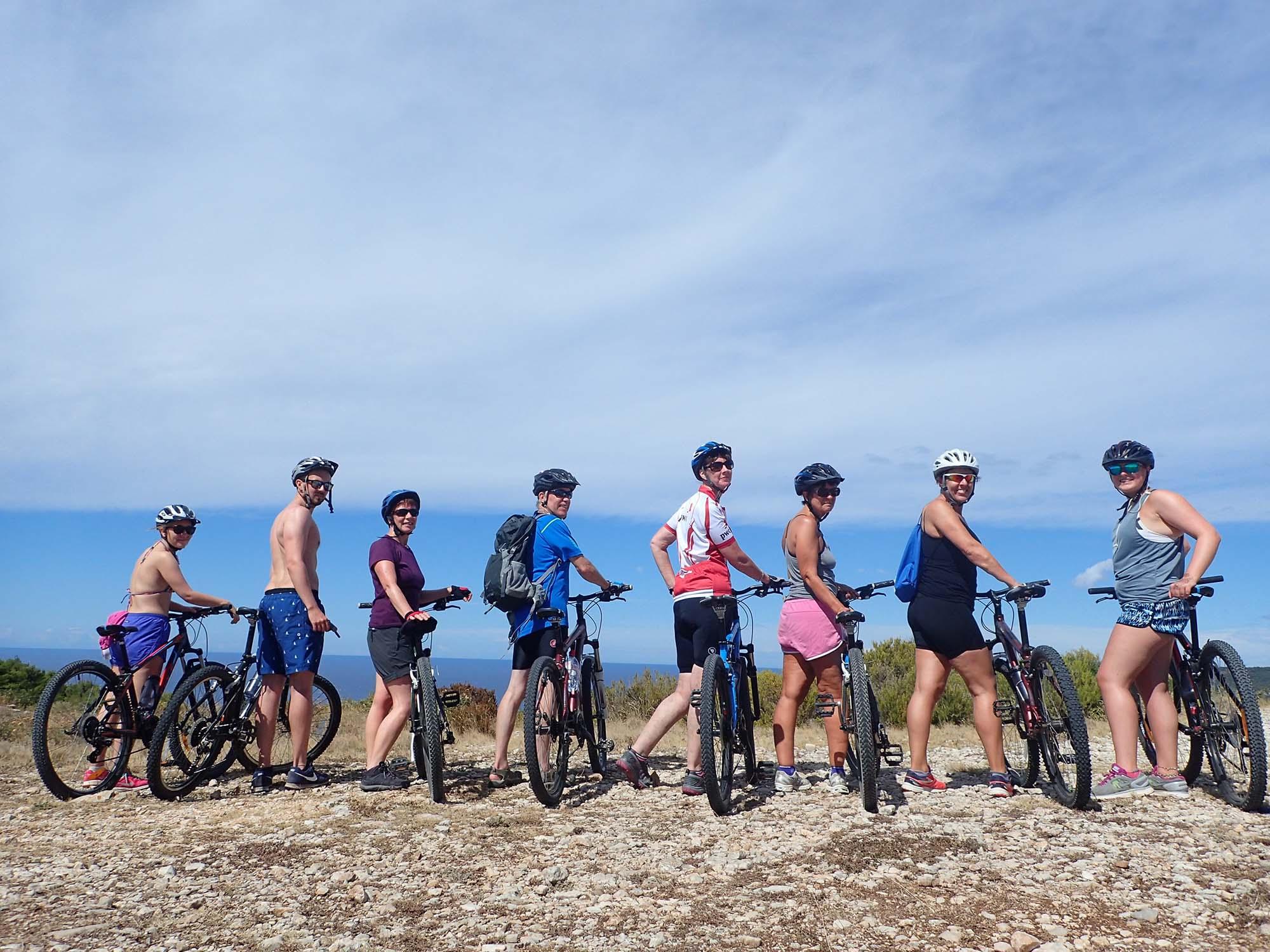 Cycling on Vis island
