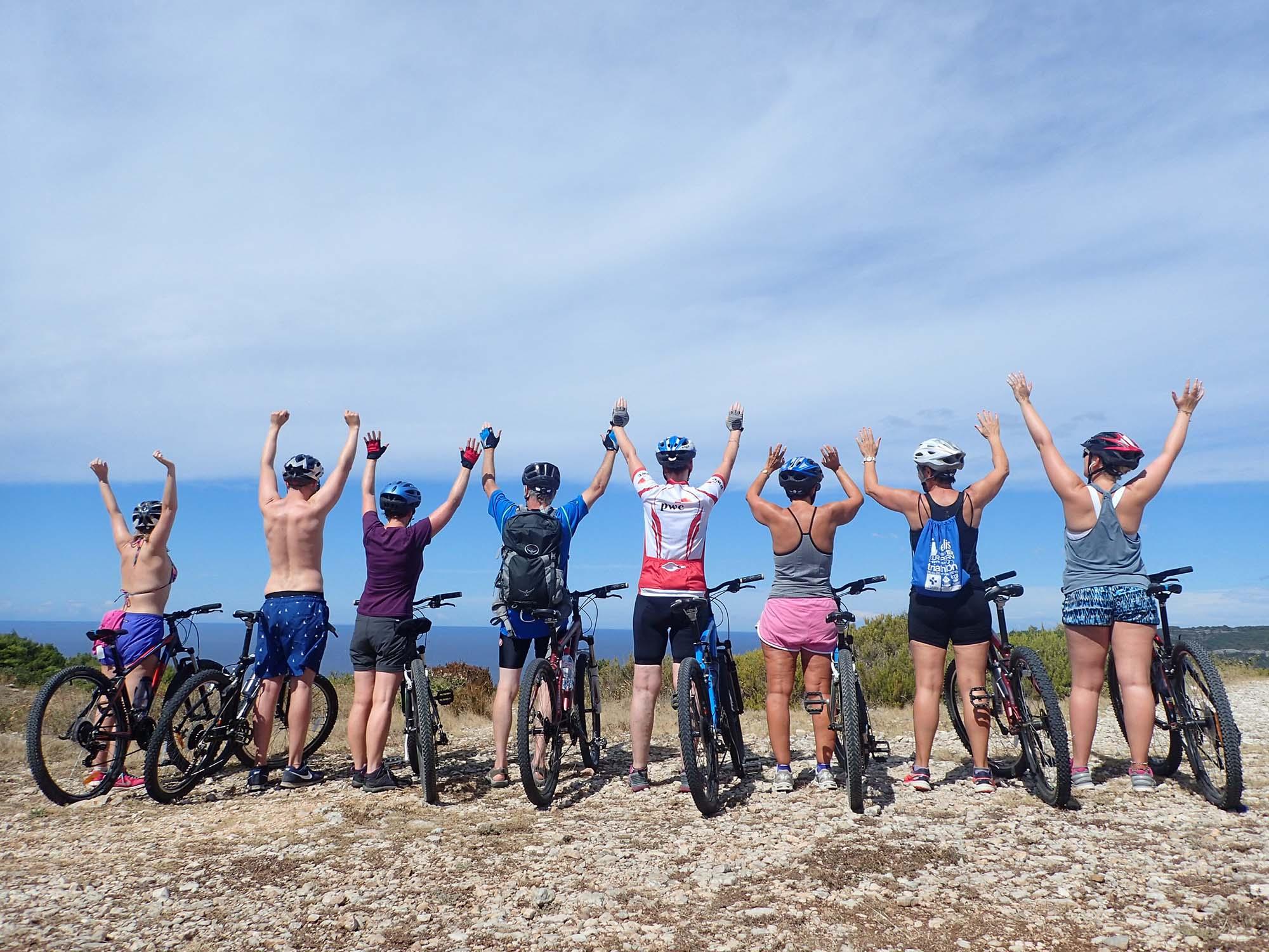 Biking in Komiža Croatia