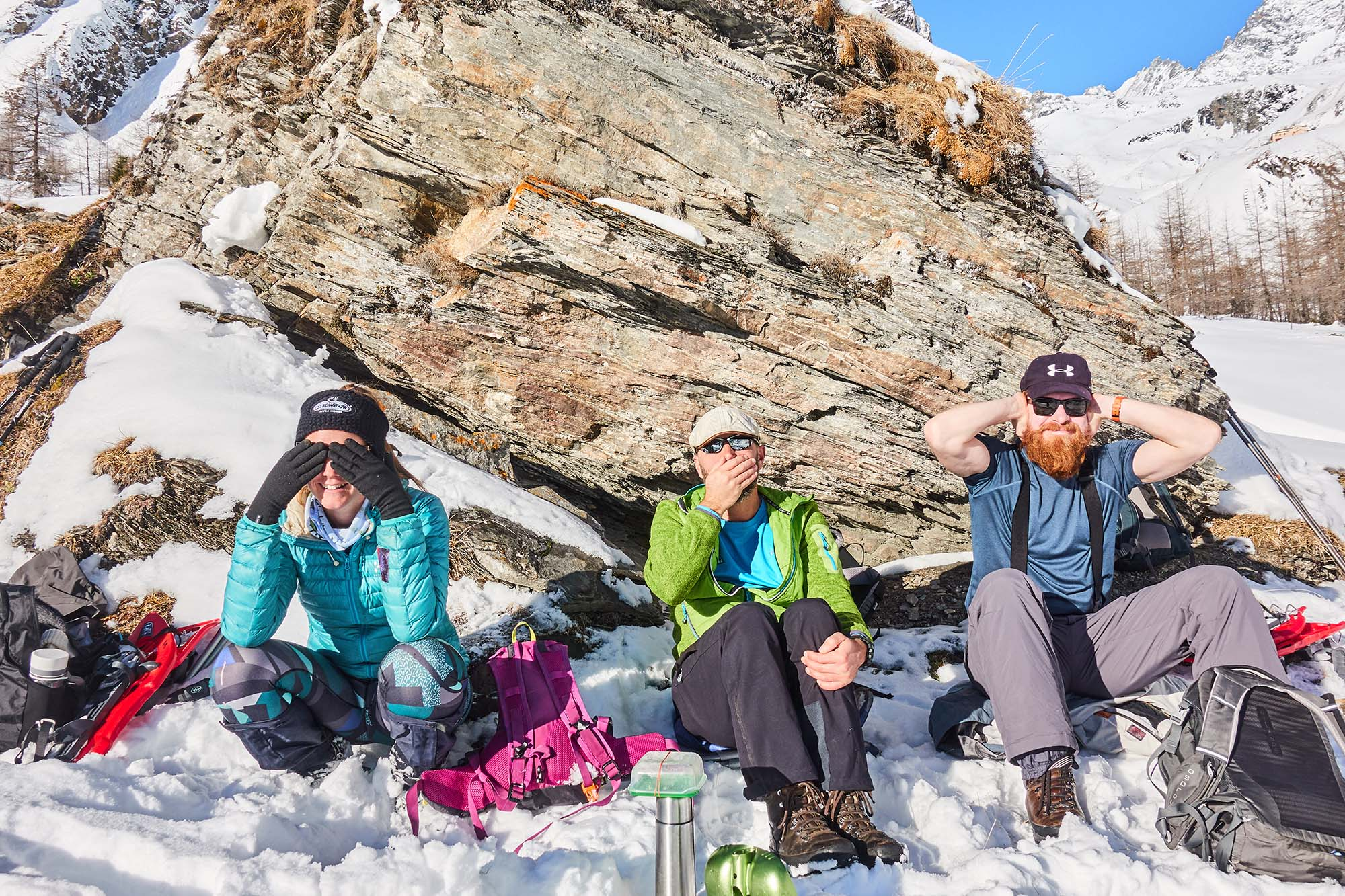 Snowshoe hiking adventure