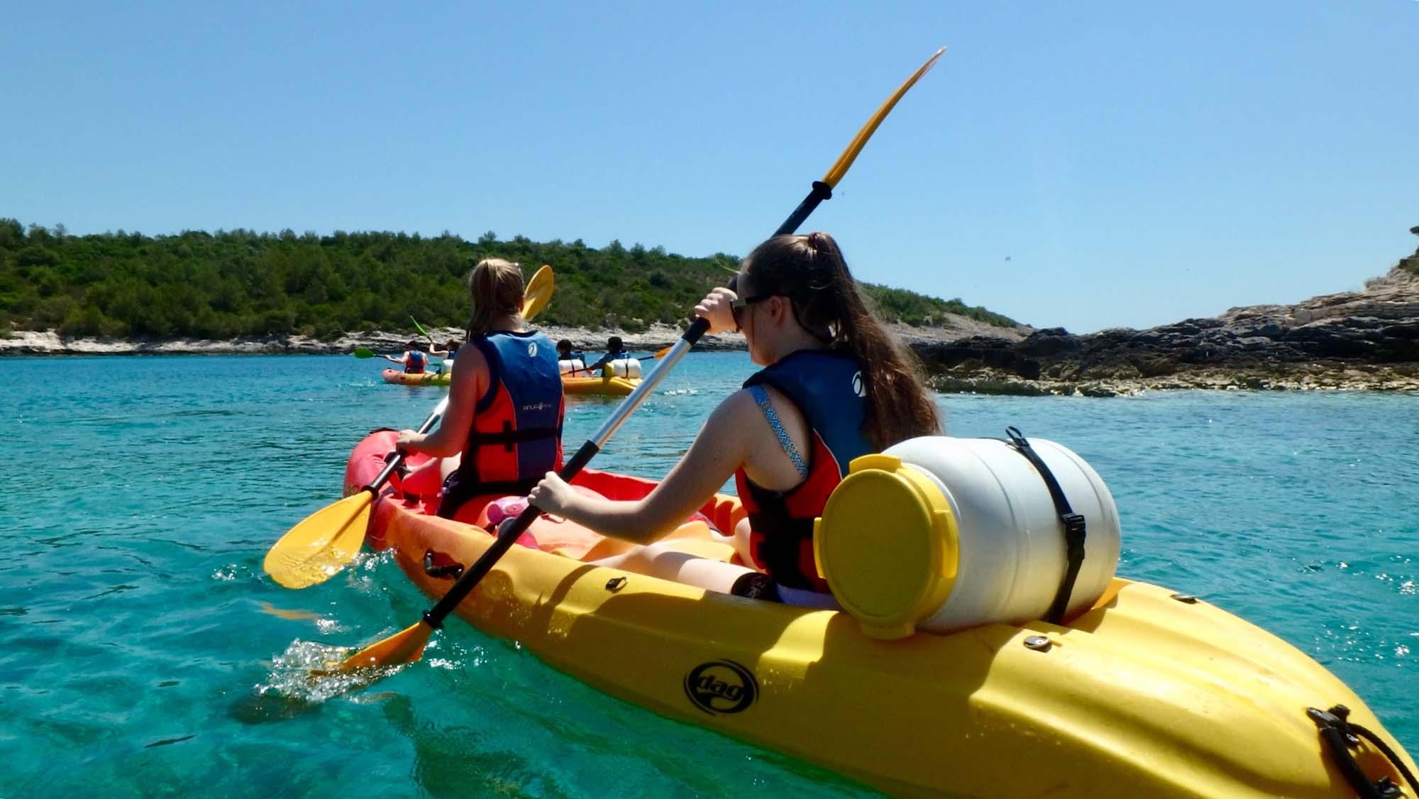 School Croatian kayak trip