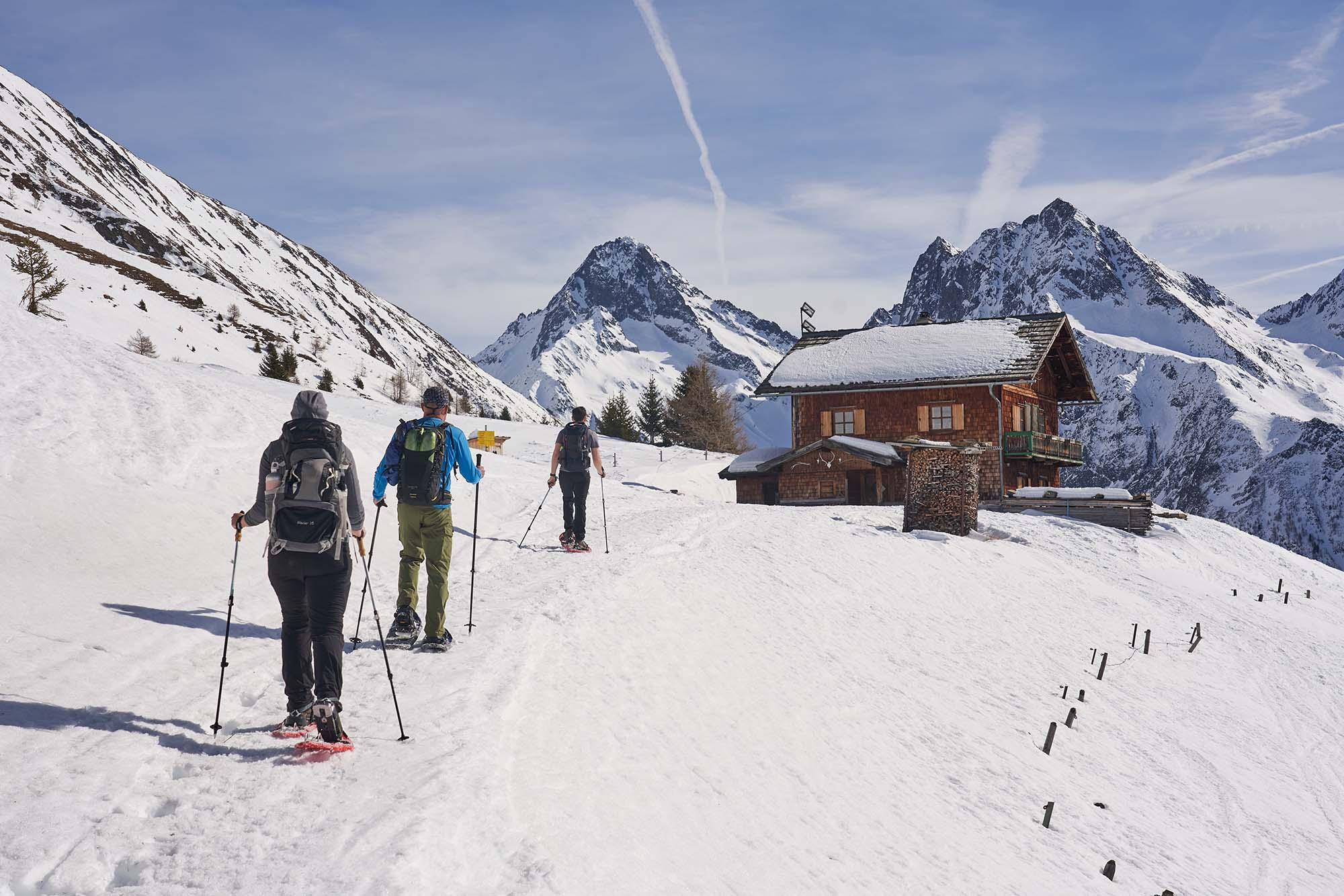 Austrian snowshoe hike