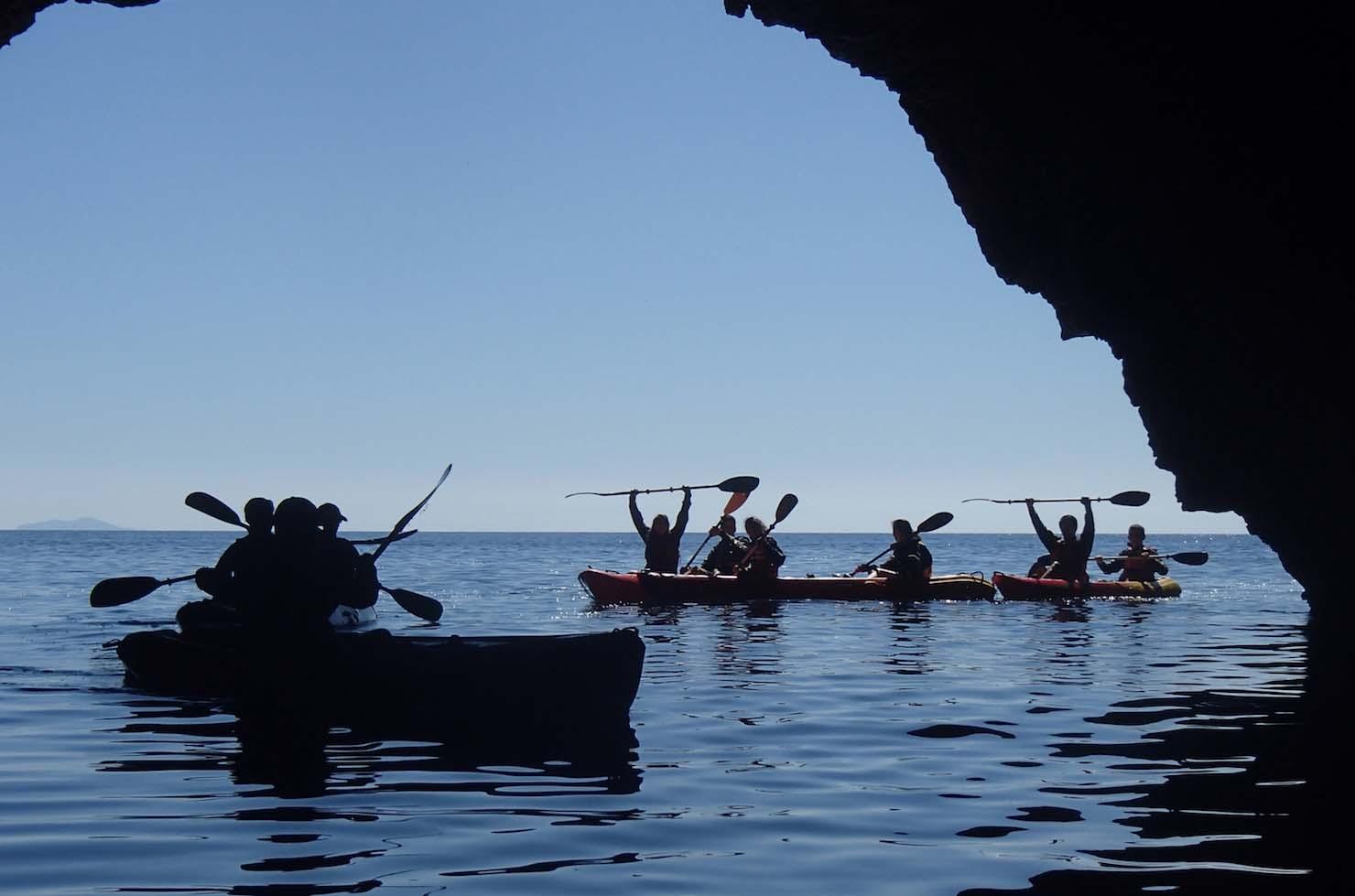 Kayaking in Green cave Ravnik