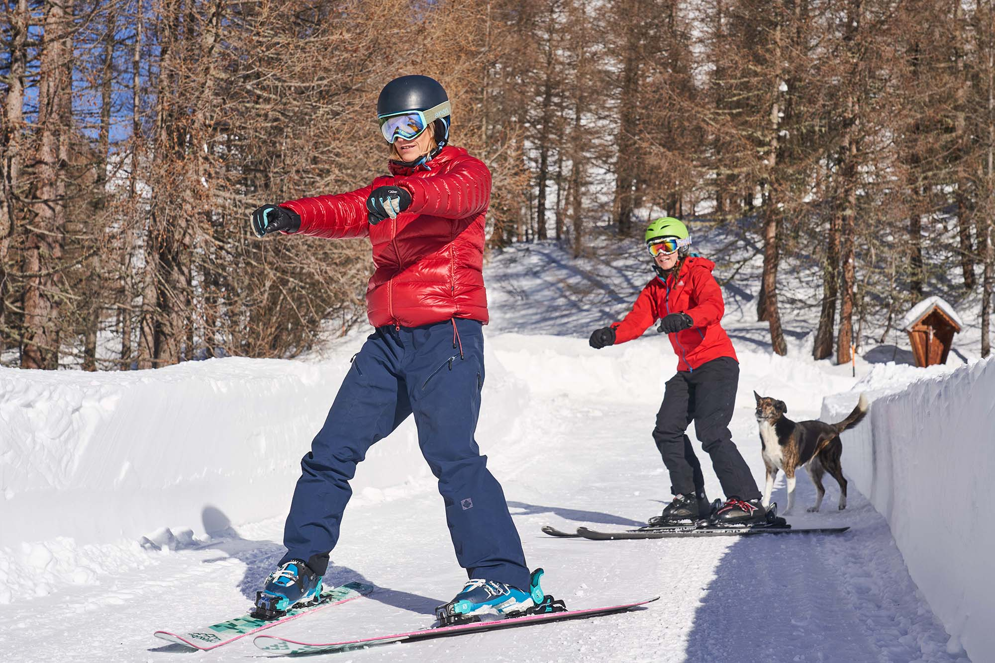 Learning to ski in East Tyrol