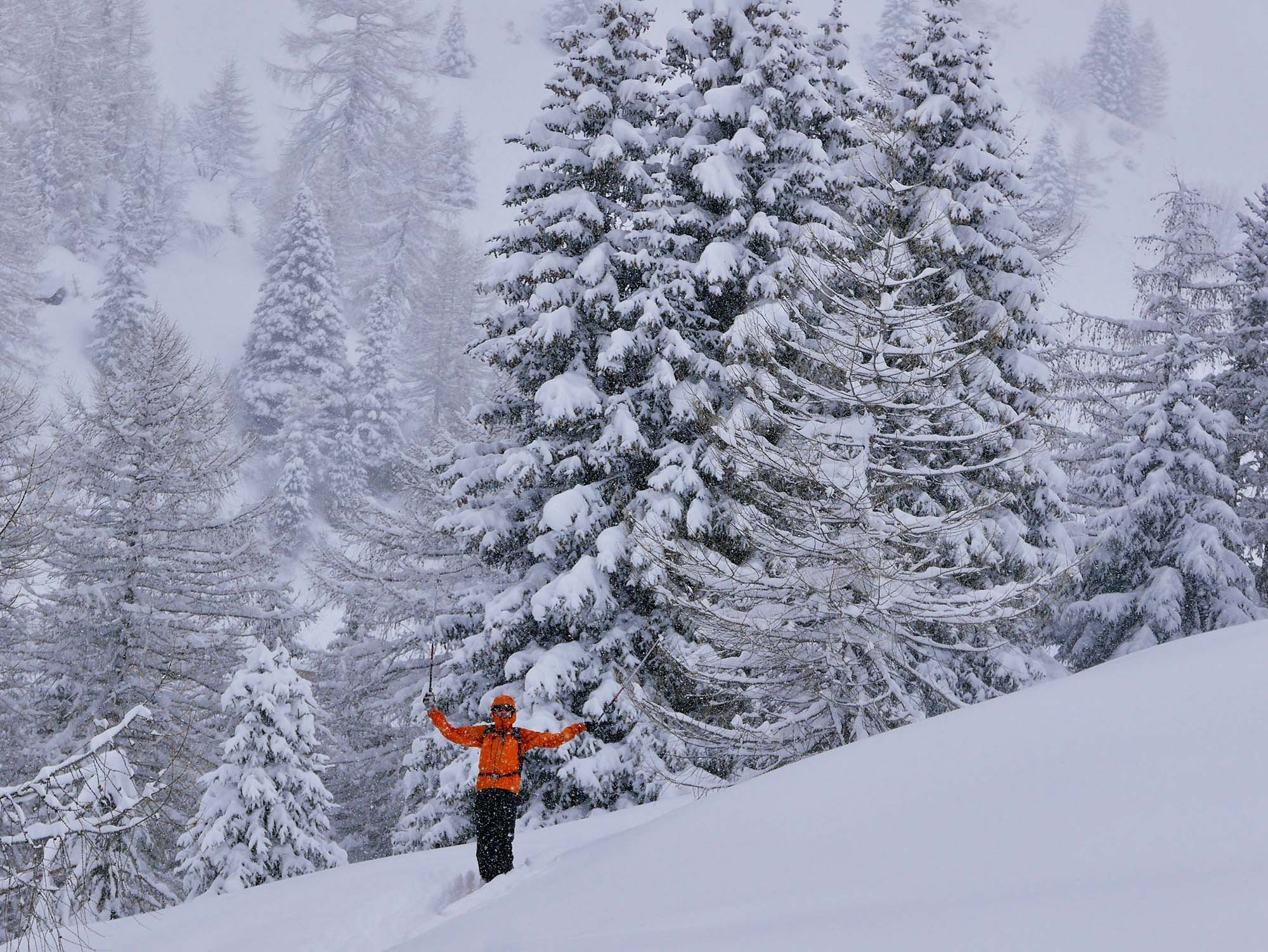 Backcountry snowboarding in East Tyrol