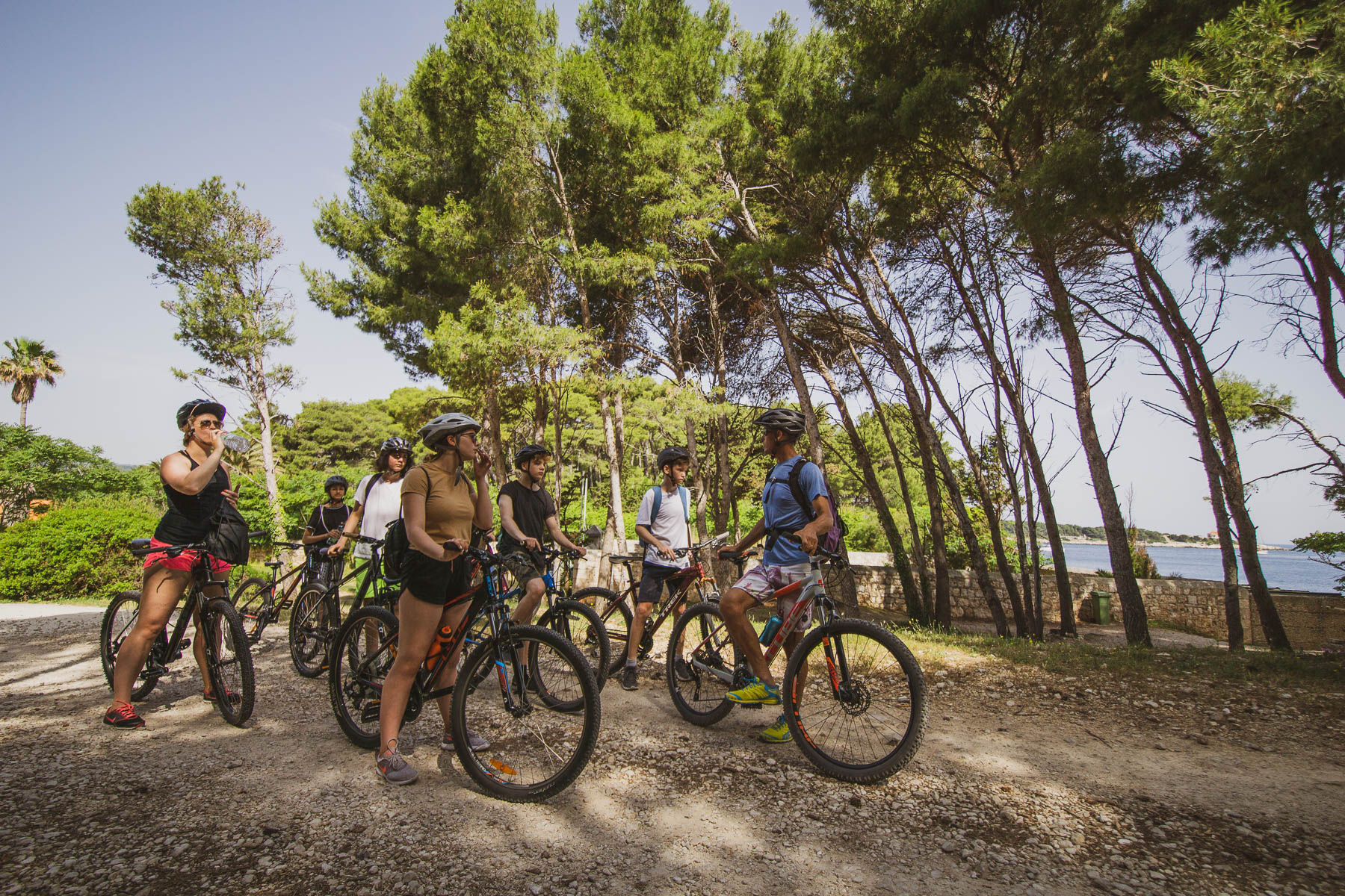 Cycling school trip on Vis island