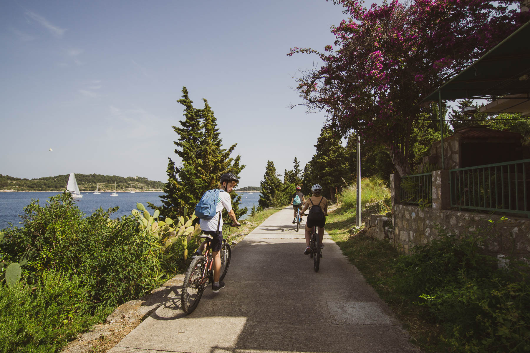 Family biking trip in Croatia