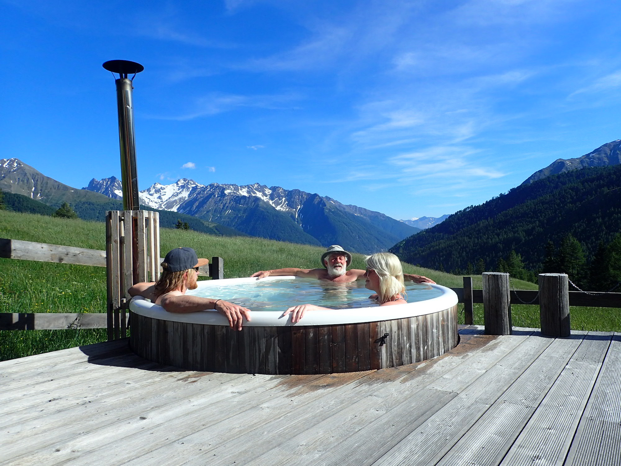 Relaxing at MoaAlm mountain retreat