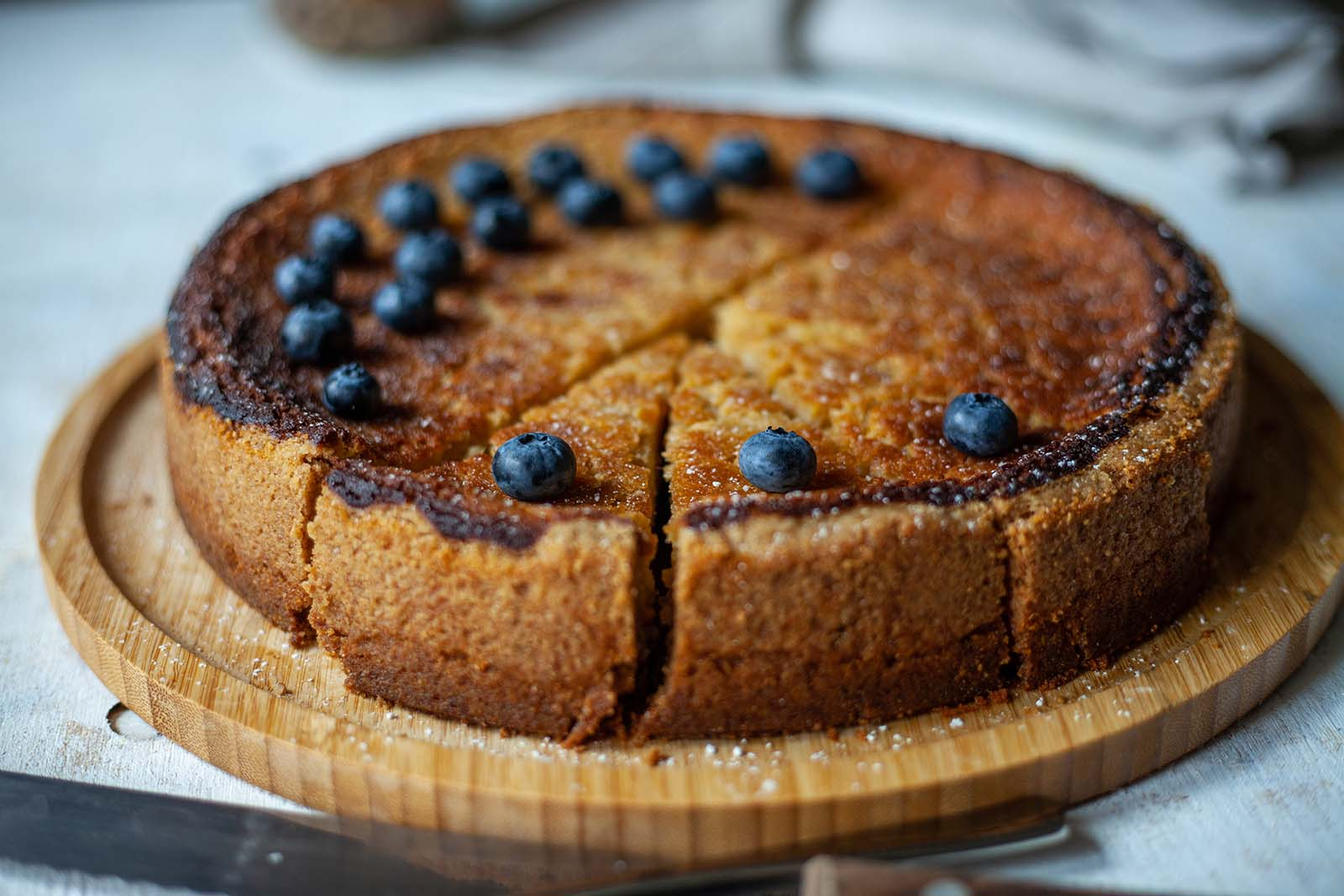 Blueberry vegan cake