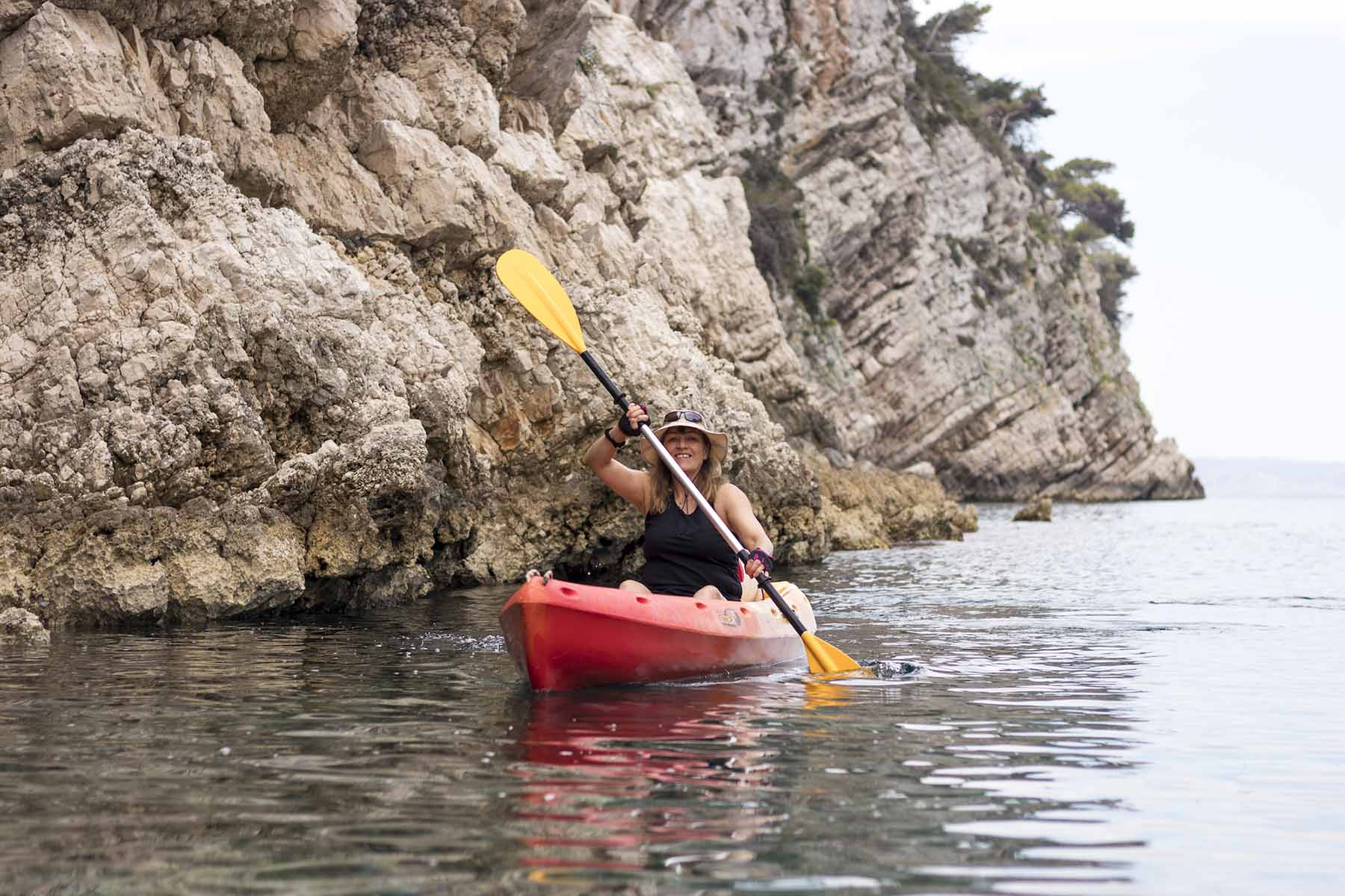 Sea kayaking around Vis island