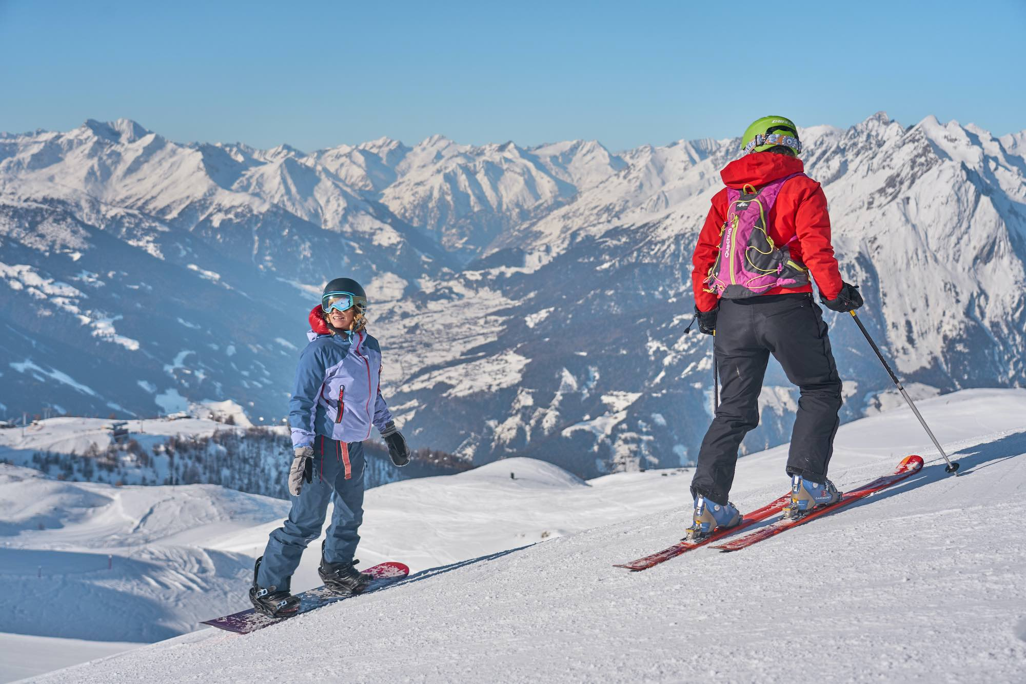 Skiing and snowboarding in Matrei