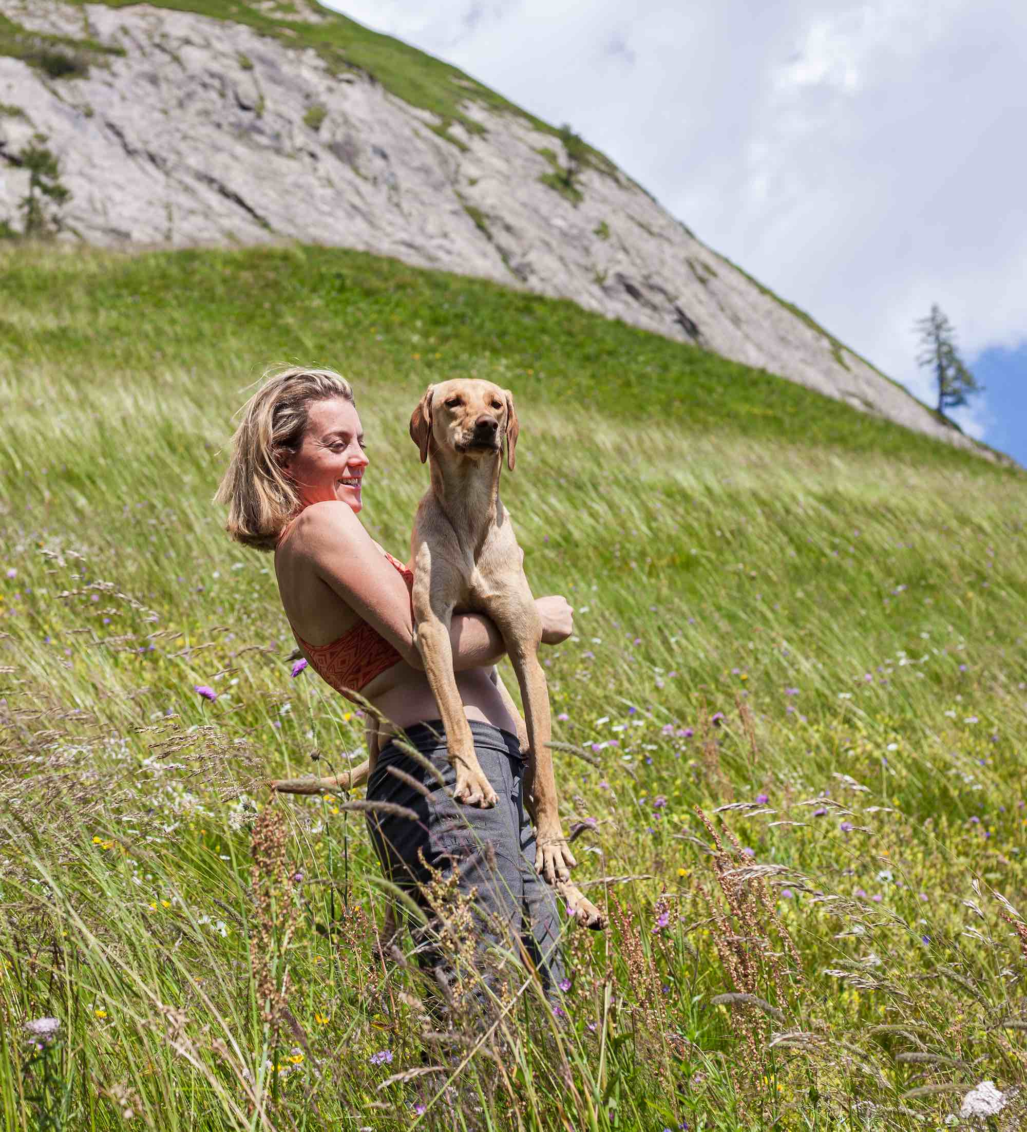 Lottie hiking in East Tyrol