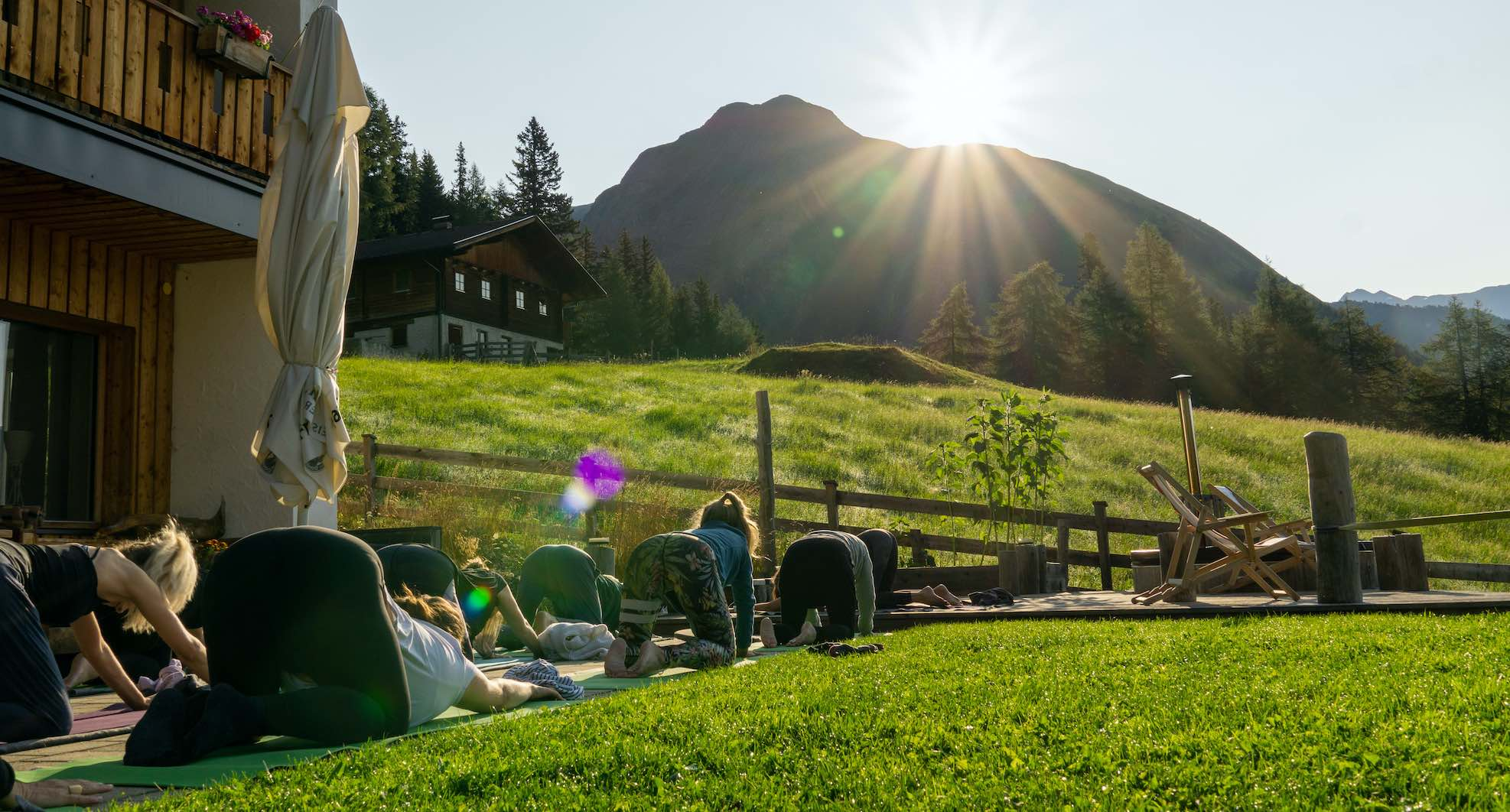 Yoga and meditation holiday in the Alps