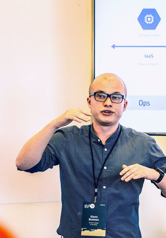 A developer explaining platform architecture