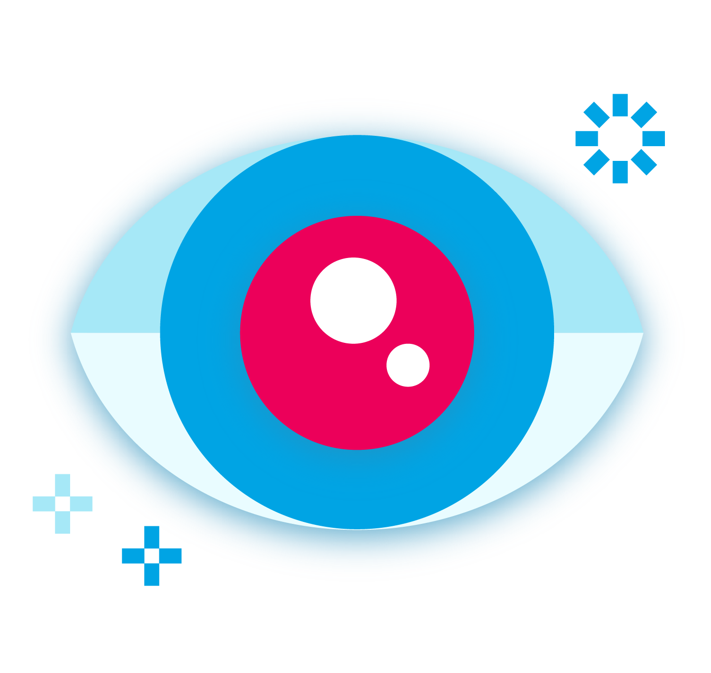 Stylized icon of an eye