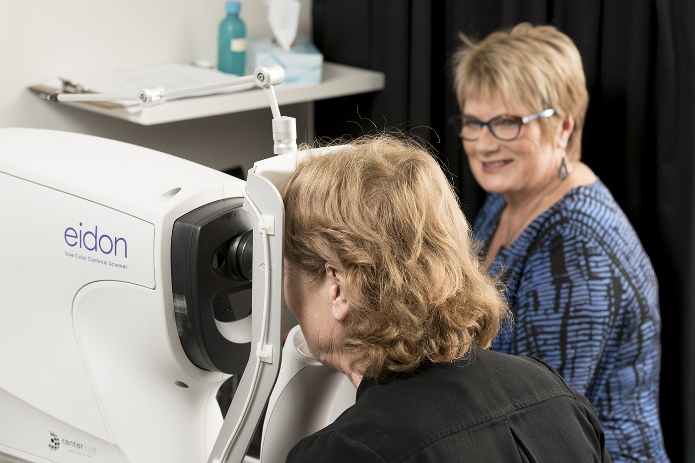 An eye examination at Shattky Optometrists