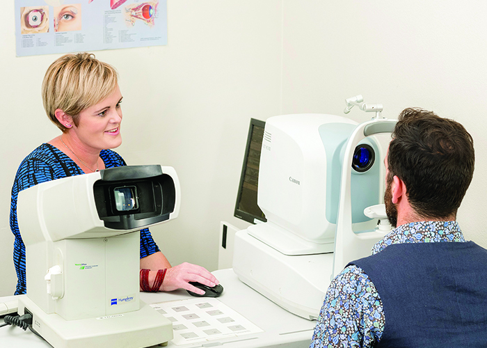 An eye examination at Shattky Optometrists