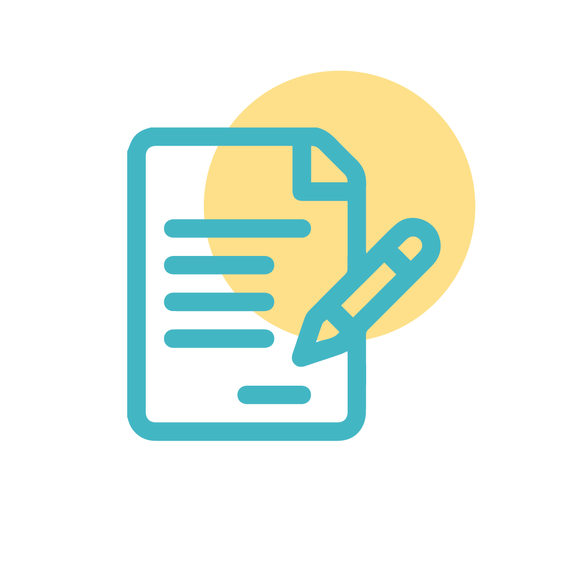 Copy writing icon illustration