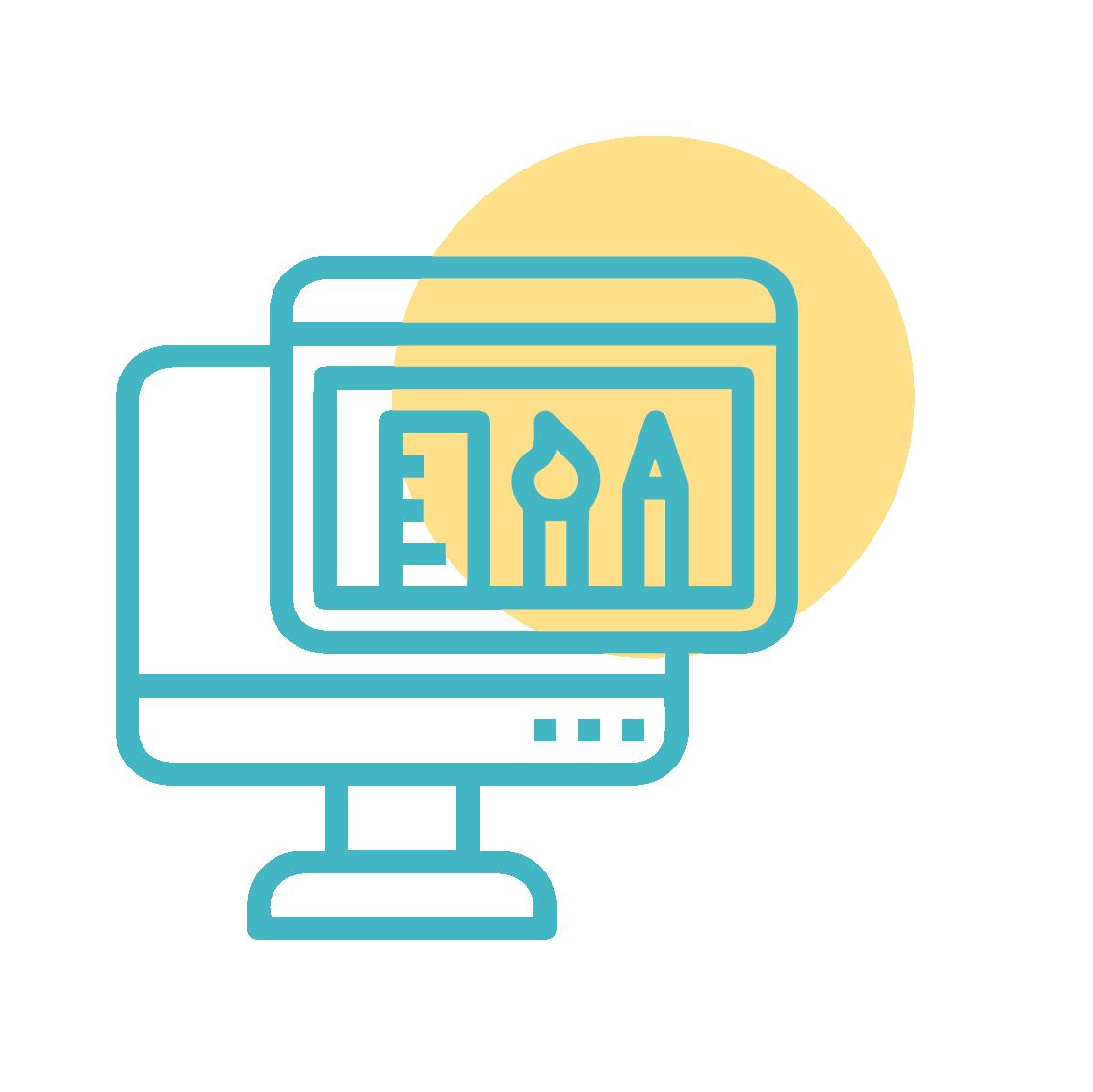 Web design icon illustration