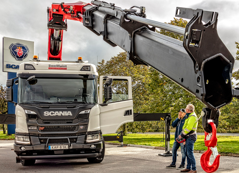 Four new powerful trucks give SweMaint nationwide coverage