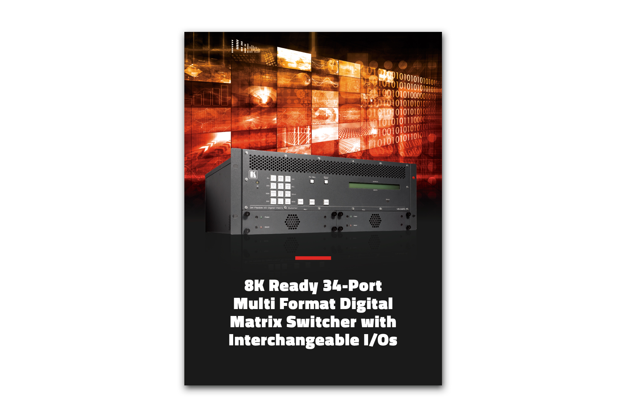 8K Ready Modular Matrix Switcher with Interchangeable IOs