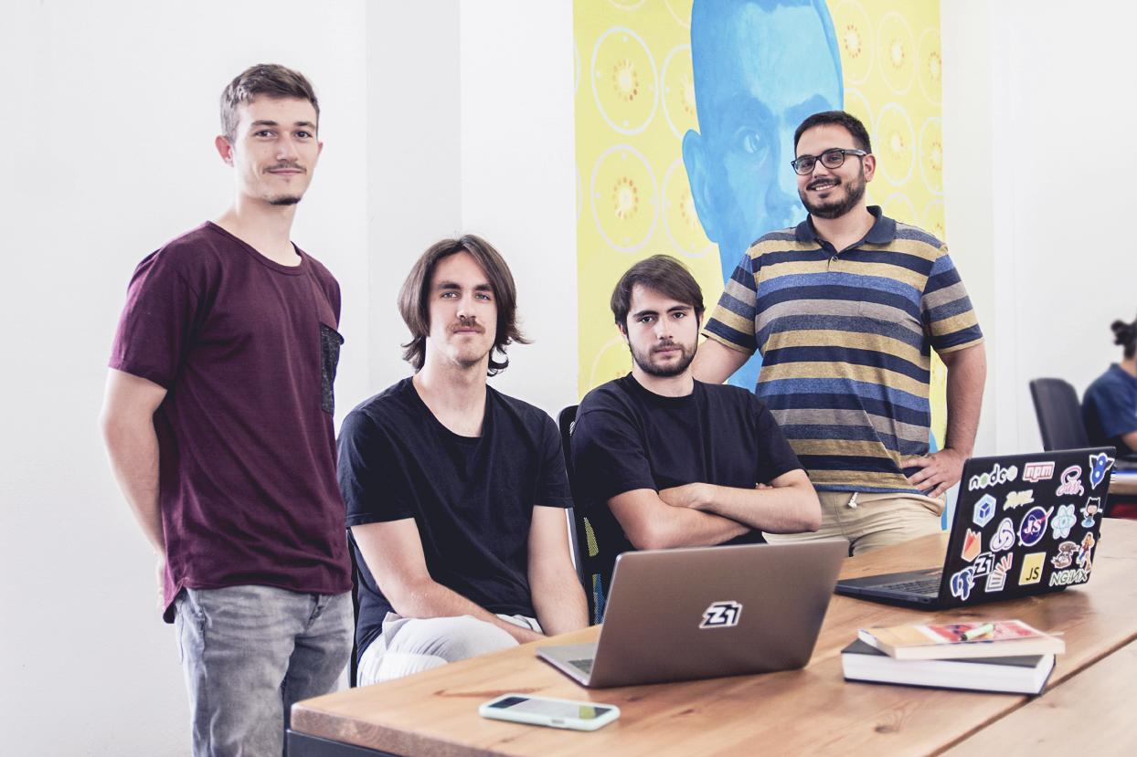 Luis Adame, Chus Vázquez, Horus Lugo and Candi Baquero. Z1 Lab's first generation.