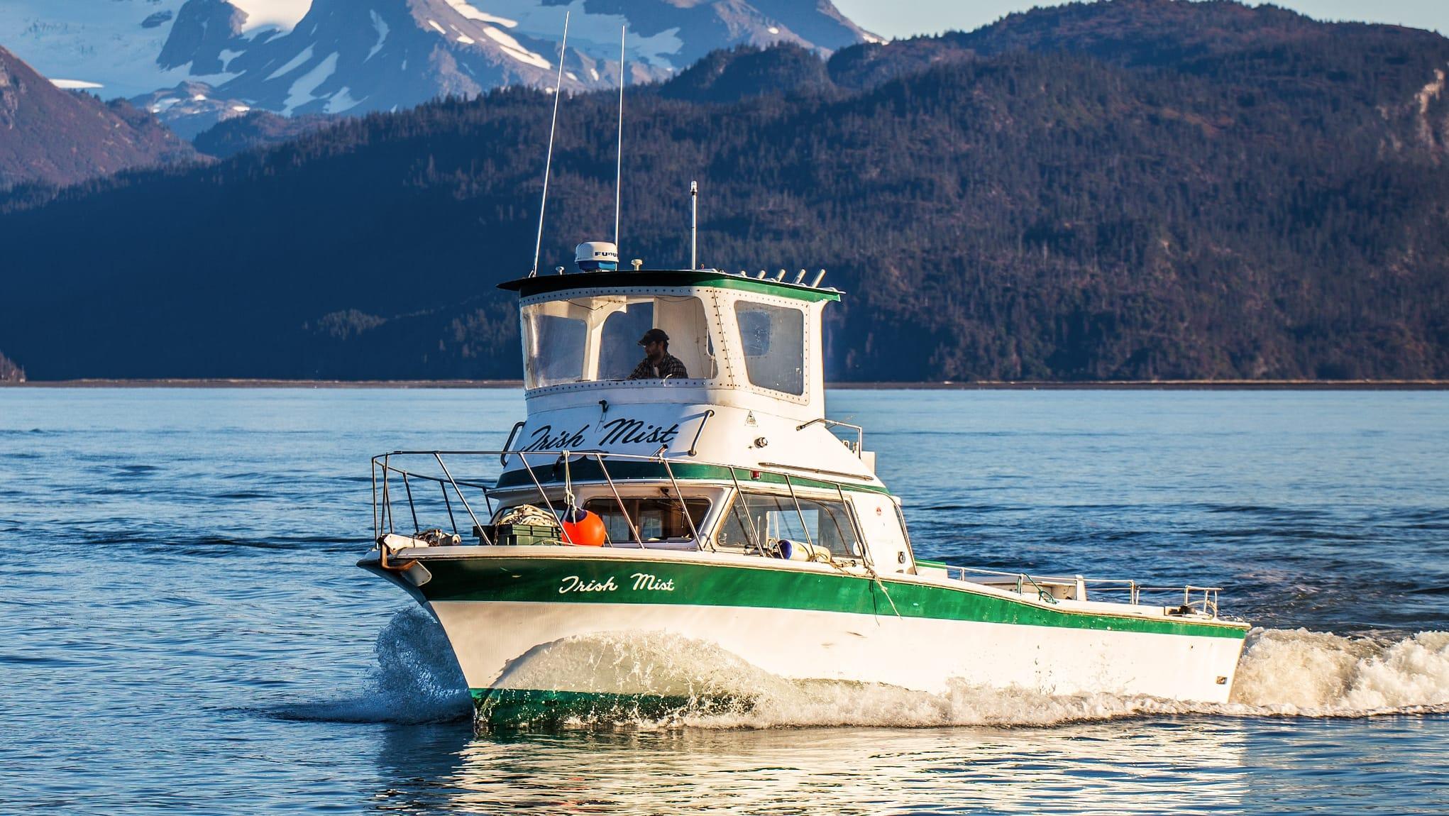 The Irish Mist charter fishing boat from DeepStrike Sportfishing in Homer Alaska