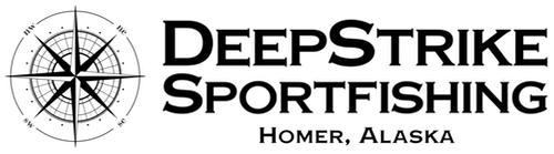 DeepStrike Sportfishing Homer Alaska stacked logo