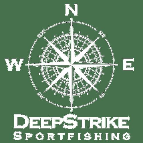DeepStrike Sportfishing stacked footer logo