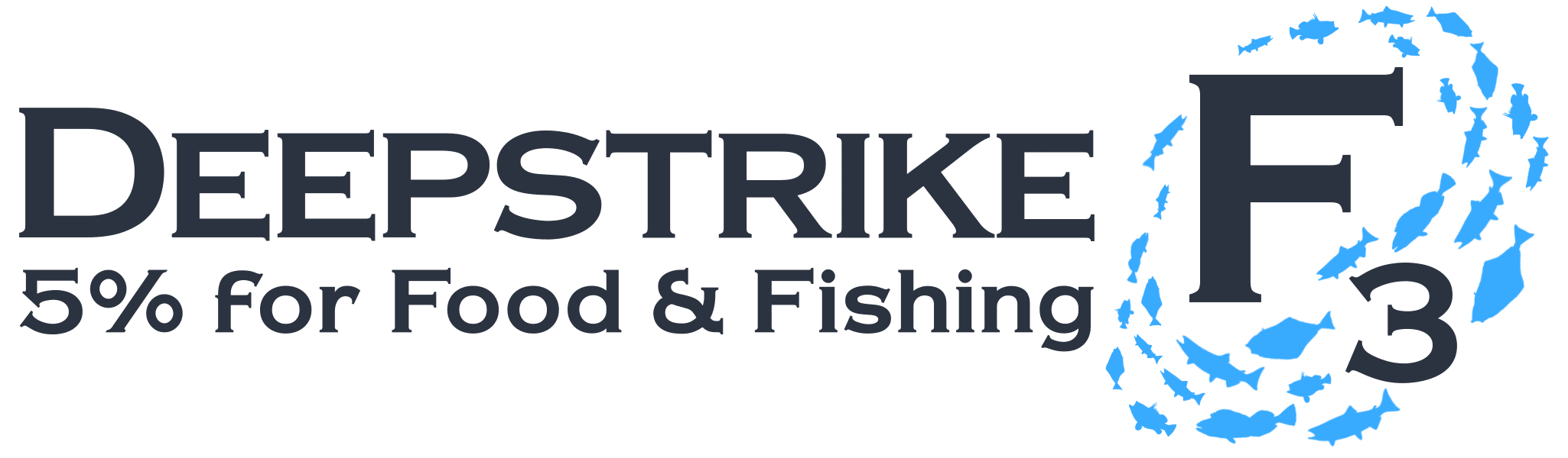 Deepstrike F3 logo - 5% for Food and Fishing