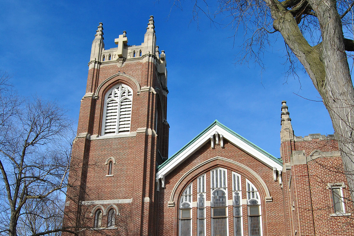 First Congregational Church of Glen Ellyn Steeple: Cricket Communications