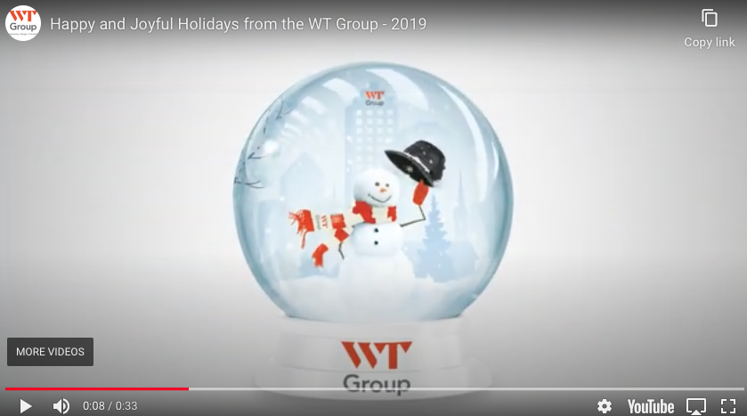 Happy and Joyful Holidays from the WT Group - 2019