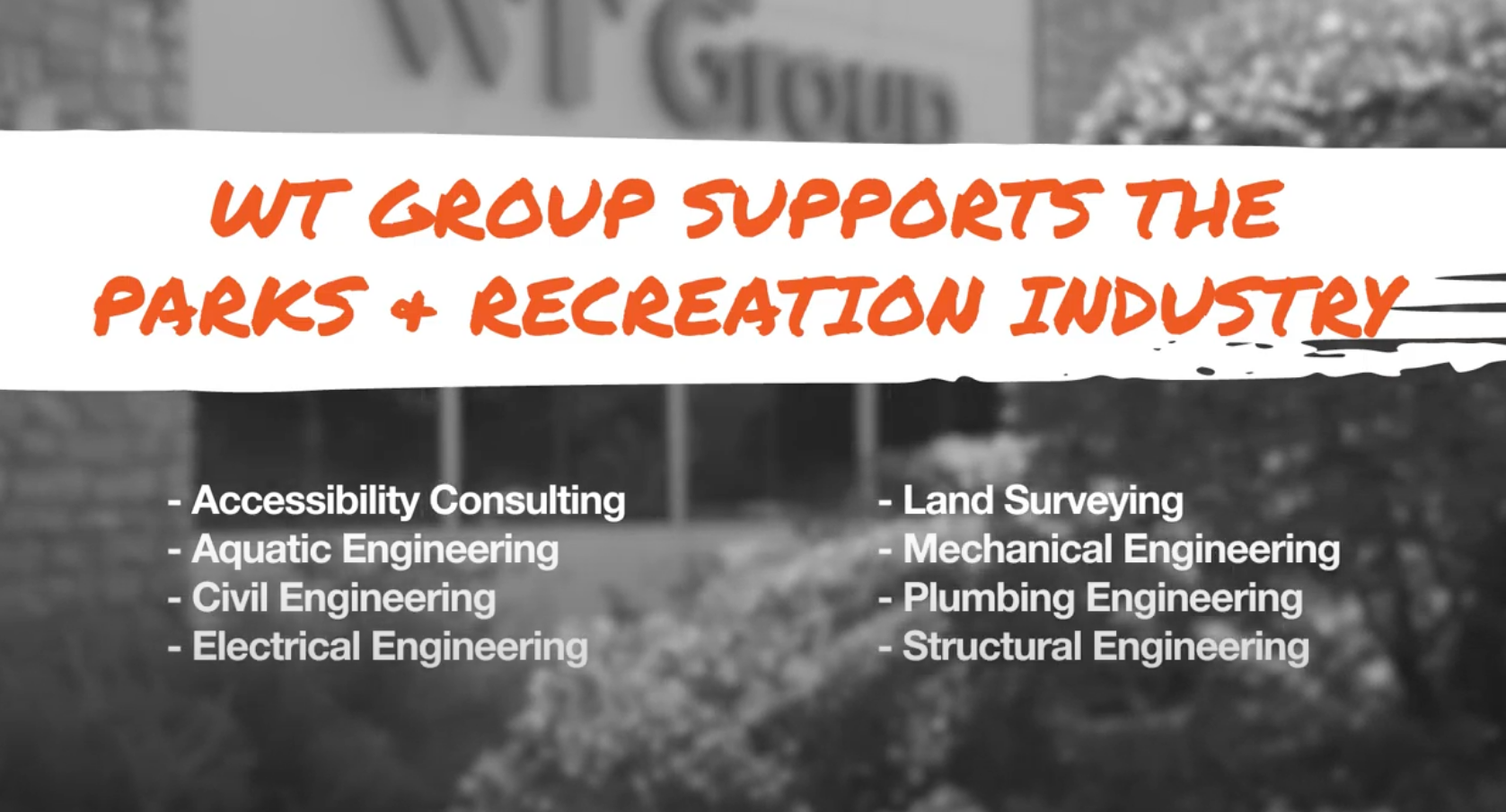 WT Group is a Proud Supporter of The National Association of Park Foundations