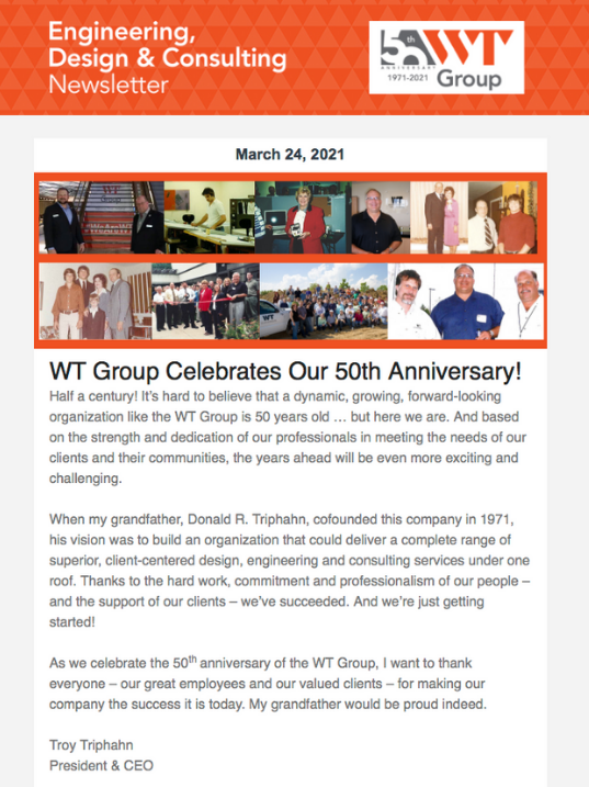 WT Group Celebrates Our 50th Anniversary!