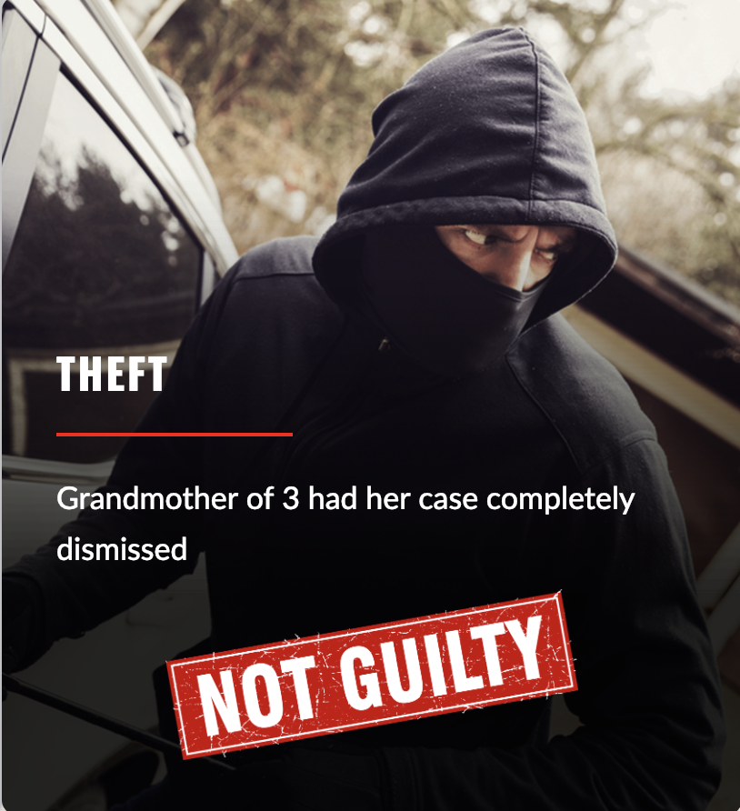 Theft - not guilty