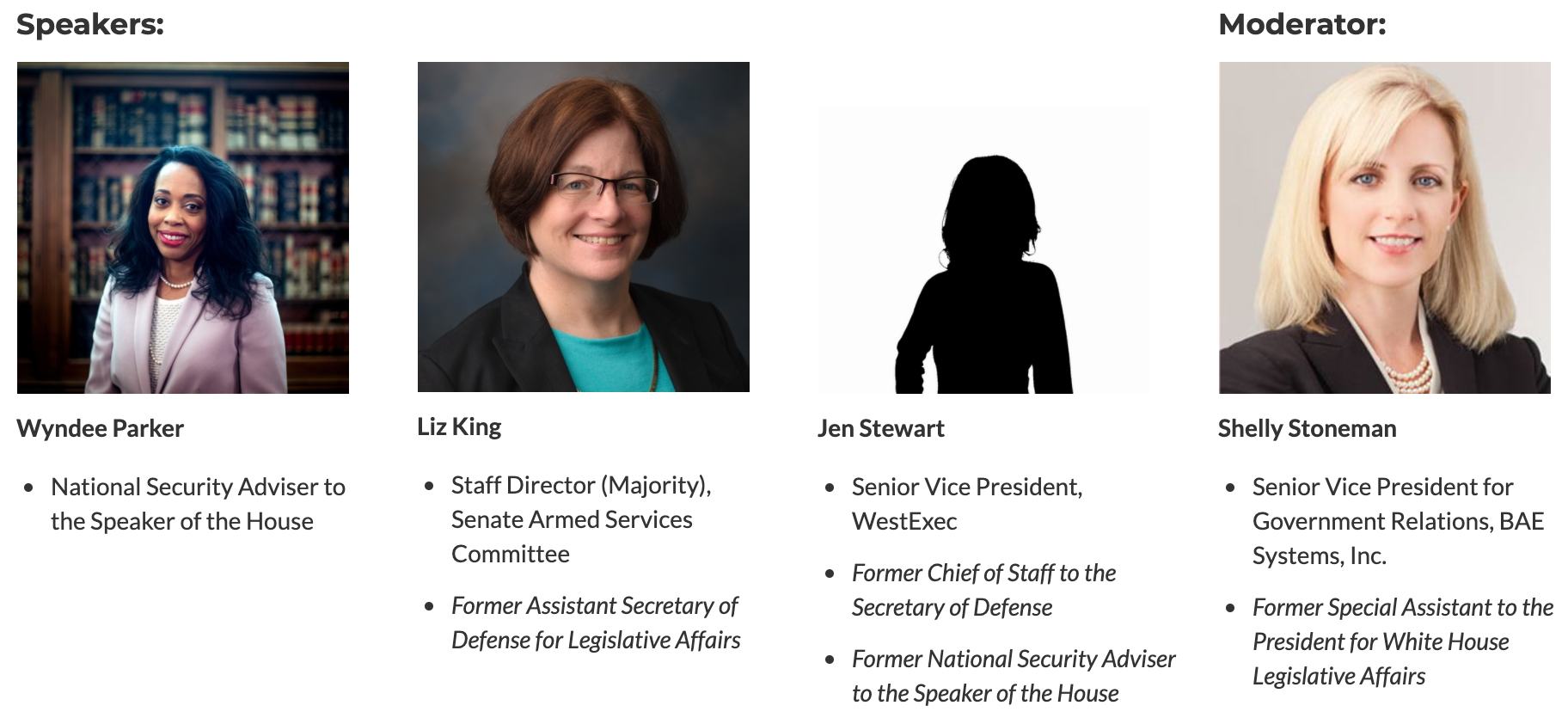 Women Leaders in Congress: Senior Congressional Staff