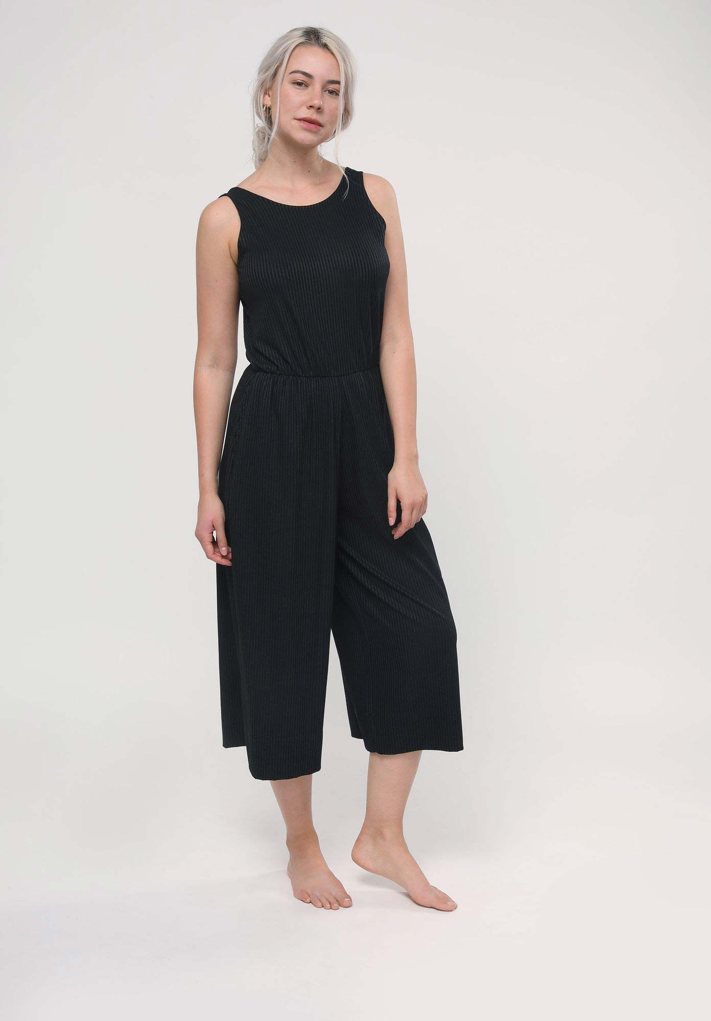 LOVJOI Damen Jumpsuit in schwarz aus TENCEL