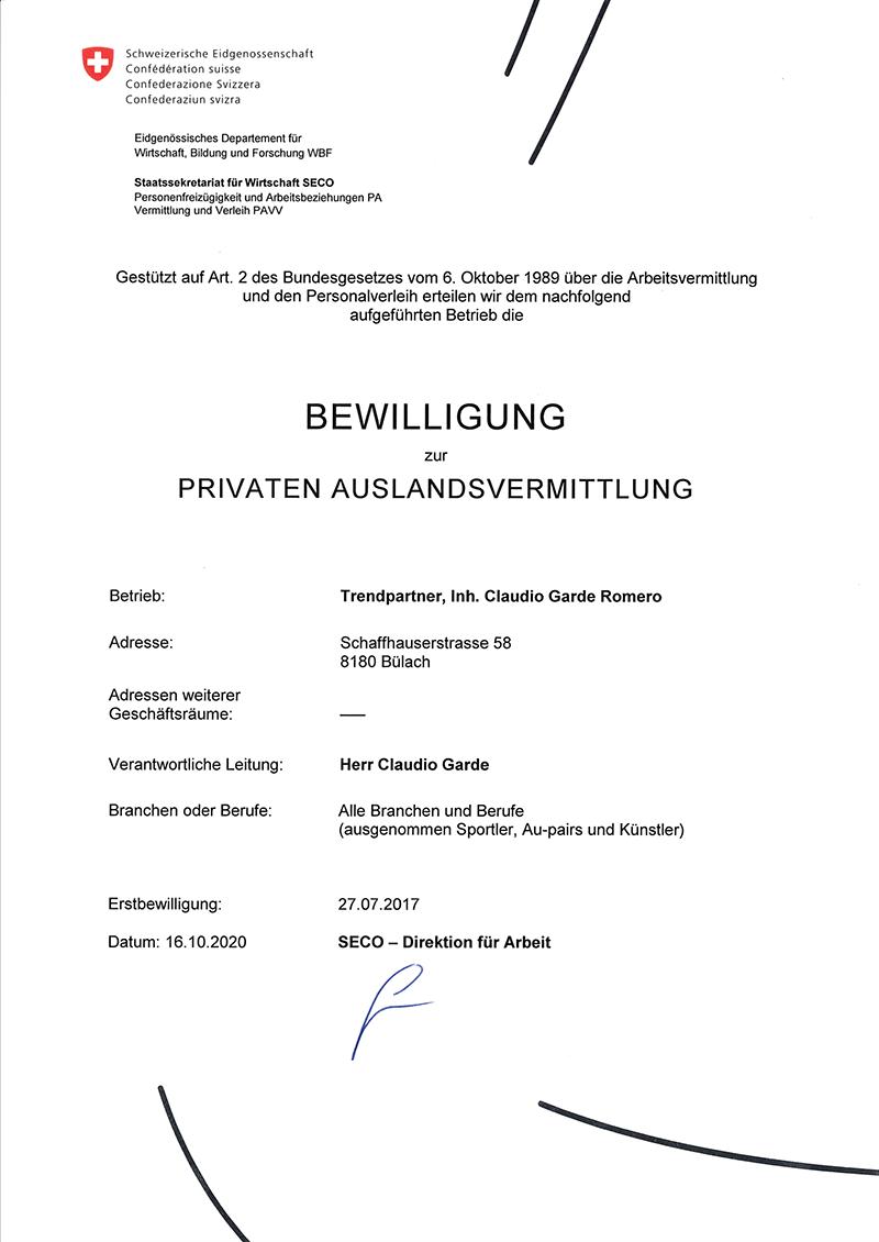 SECO Vermittlung