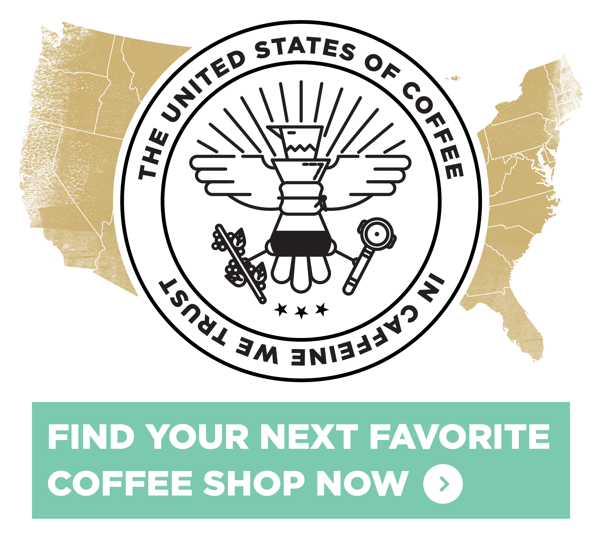 The United States of Coffee Logo