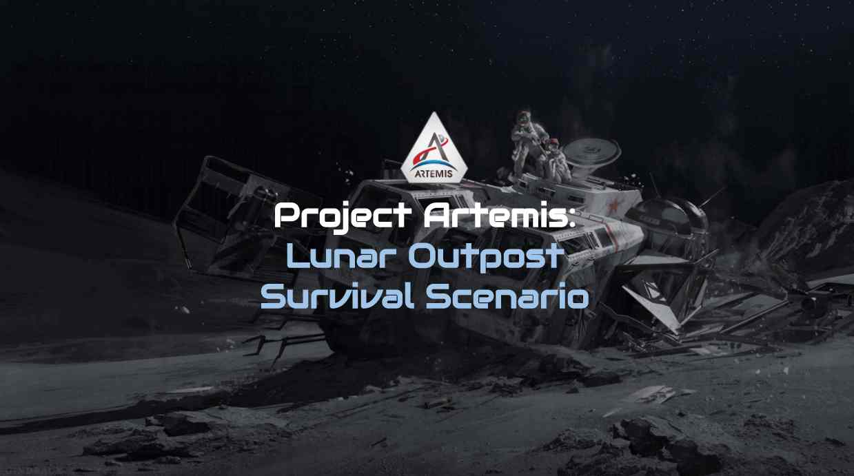A virtual team building survival game