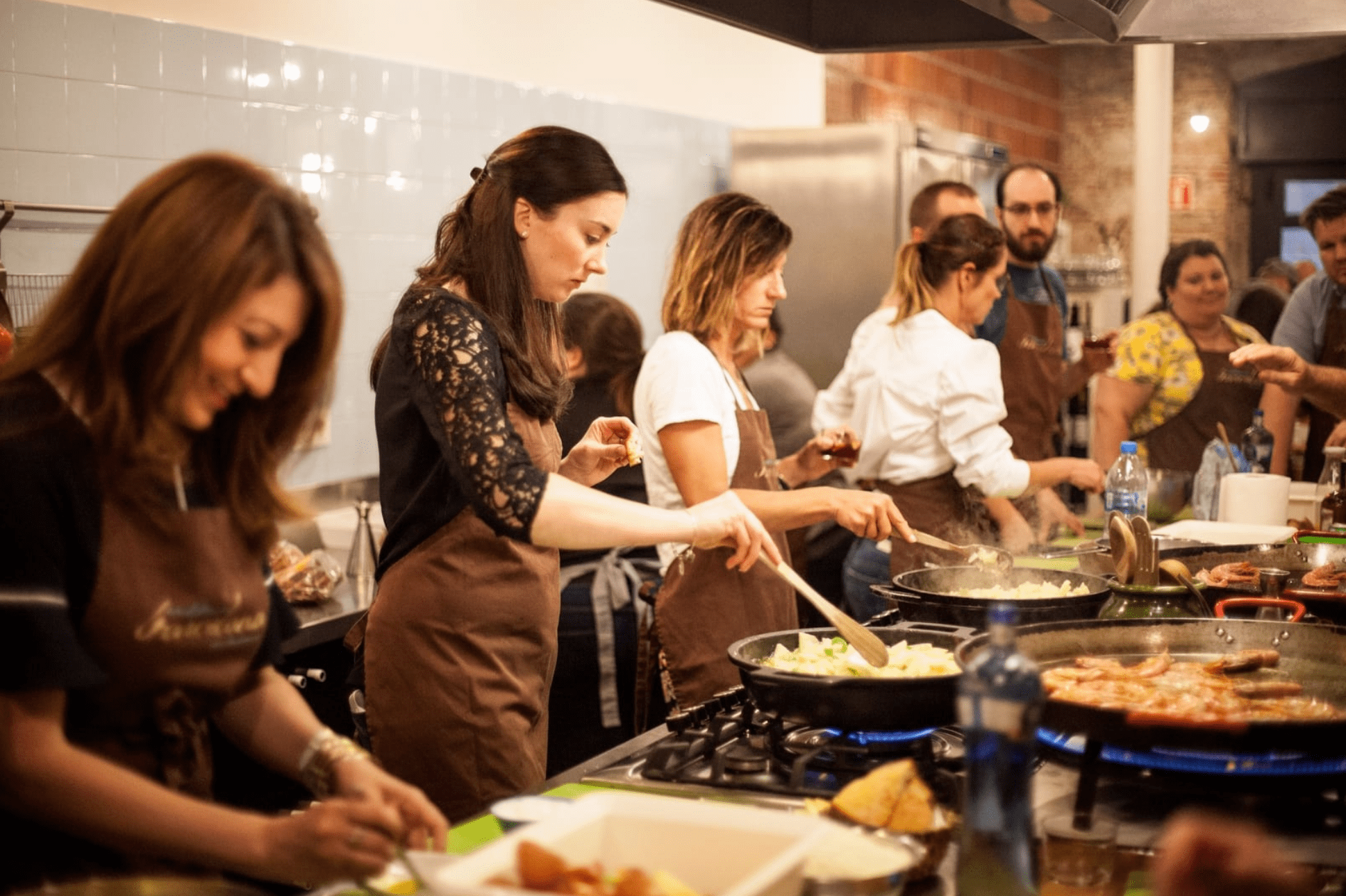 Cooking Class at a Company Retreat