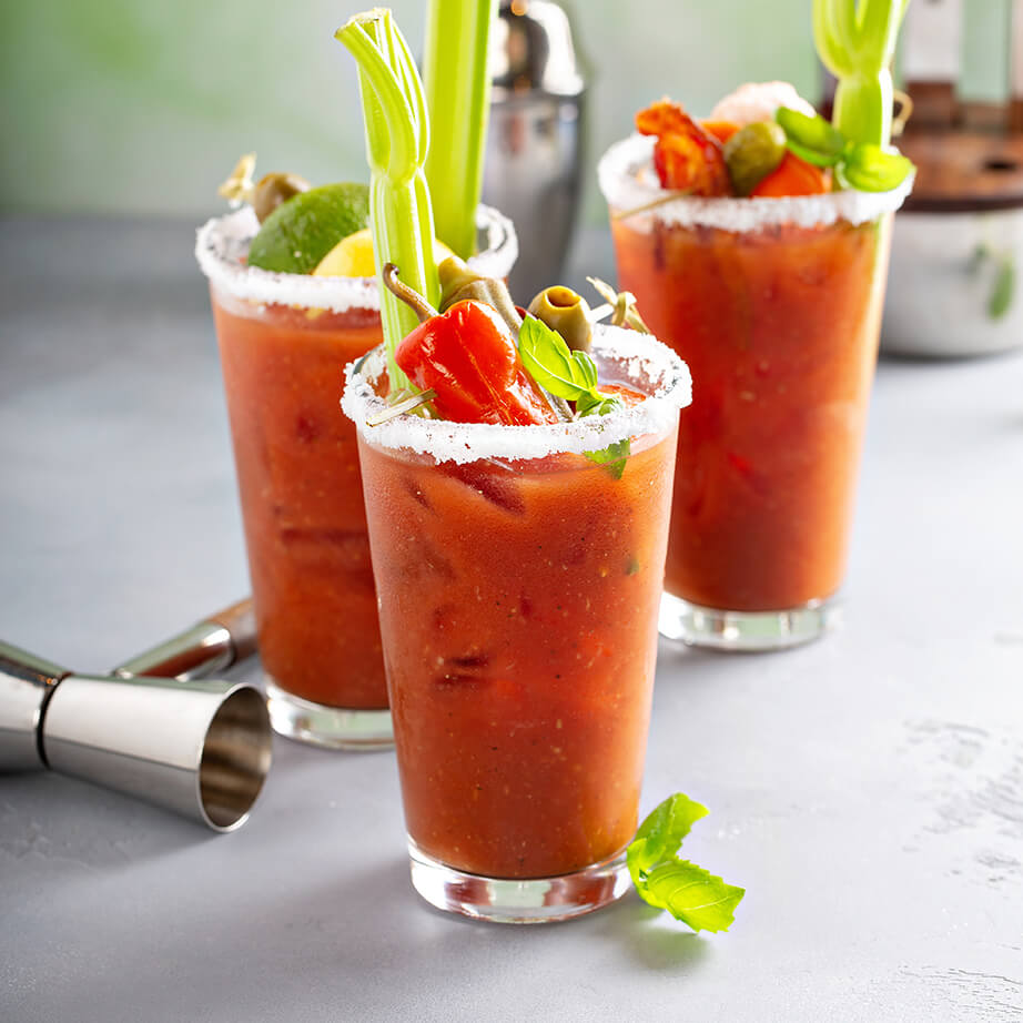 A photo of Bloody Mary cocktails.