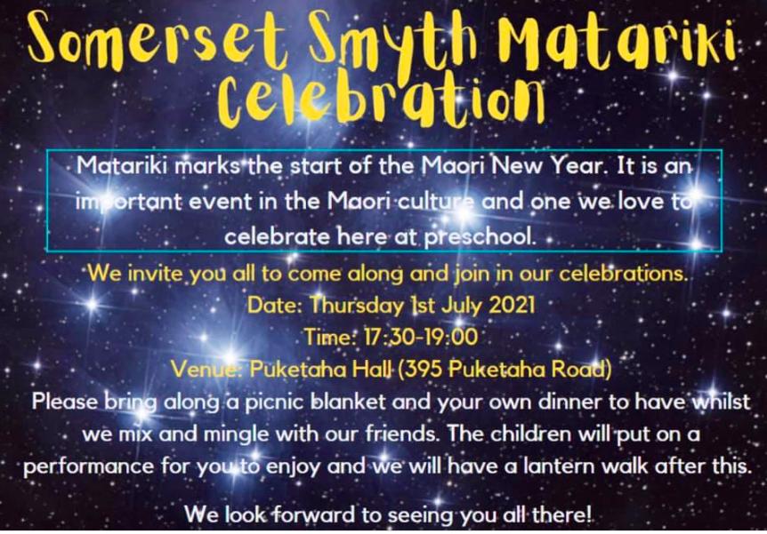 Somerset Smyth Family Matariki Night 2021