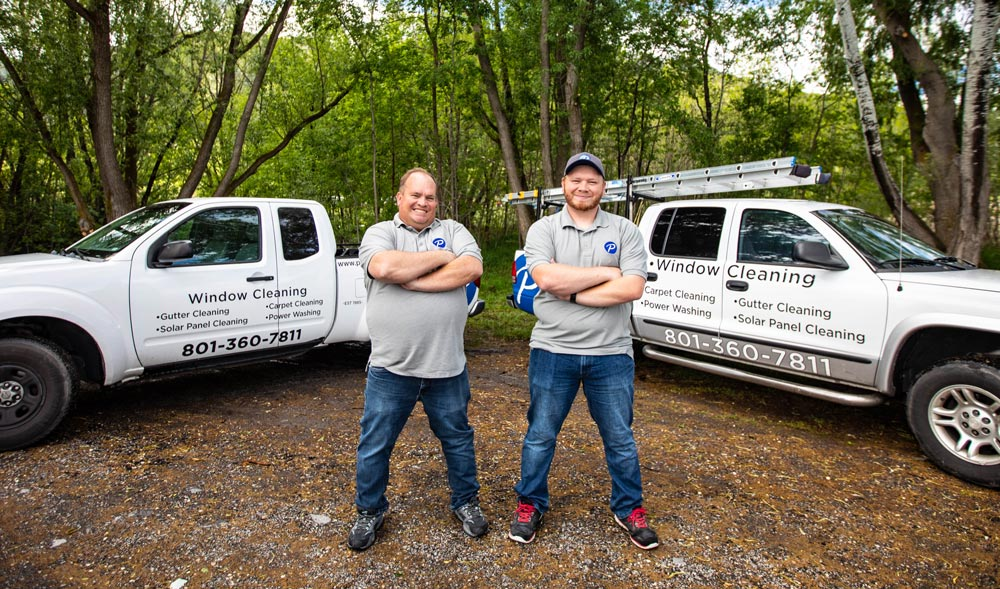 Father and son owners of Purity Cleaning Systems